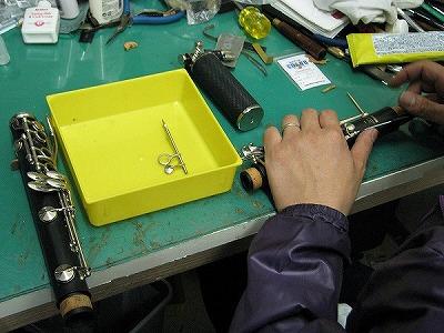 クラリネットの修理中(リペア,調整) 2009.5/3 2
