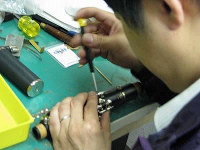 クラリネットの修理中(リペア,調整) 2009.5/3 3