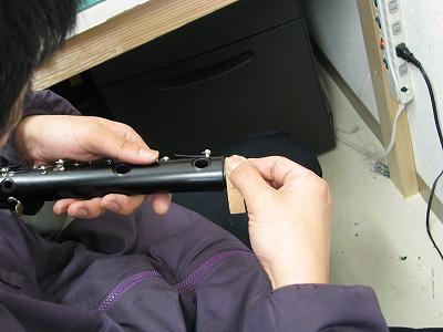 クラリネットの修理中(リペア,調整) 2009.5/11 画像2