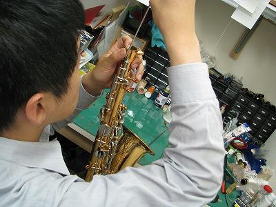 ヤマハテナーサックスの修理中(リペア,調整) 2009.6/11 画像1