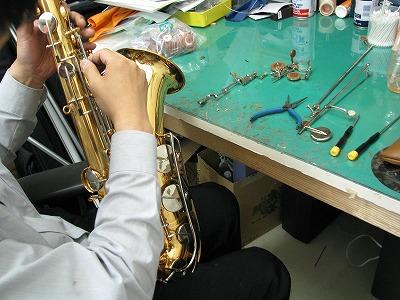 ヤマハテナーサックスの修理中(リペア,調整) 2009.6/11 画像3