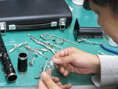 クラリネットの修理中(リペア,調整) 2009.6/18 画像2
